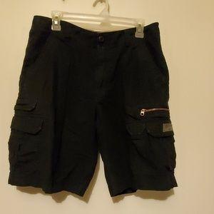 EUC black cargo shorts